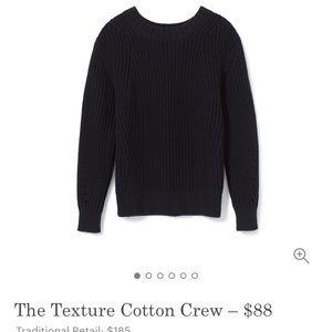 Everlane Texture Cotton Crew in Dark Navy